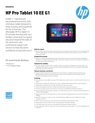 AMS HP Pro Tablet 10 EE G1 Datasheet