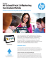 HP School Pack 2.0 featuring Curriculum Matrix and CMX Datasheet