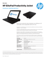 HP ElitePad Productivity Jacket Data Sheet