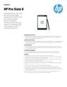 AMS HP Pro Slate 8 Datasheet