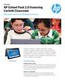 HP School Pack 2.0 featuring Corinth Classroom Datasheet