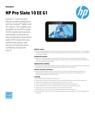 HP Pro Slate 10 EE G1 Datasheet