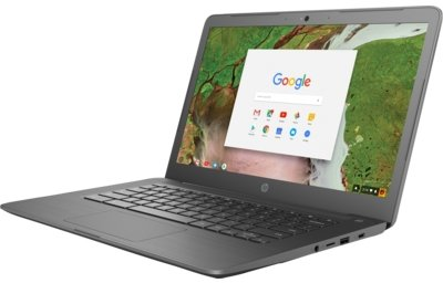 HP Inc  HP Chromebook 11 G6 EE - Intel Celeron Processor N3350 (1 10 GHz  w/Turbo, 2 MB L2 Cache, Dual Core), 4 GB LPDDR4-2400 SDRAM on Motherboard,  16