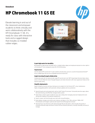 AMS HP Chromebook 11 G5 EE Datasheet