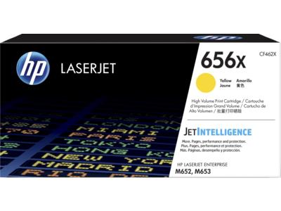 HP 656X High Yield Yellow Original LaserJet Toner Cartridge
