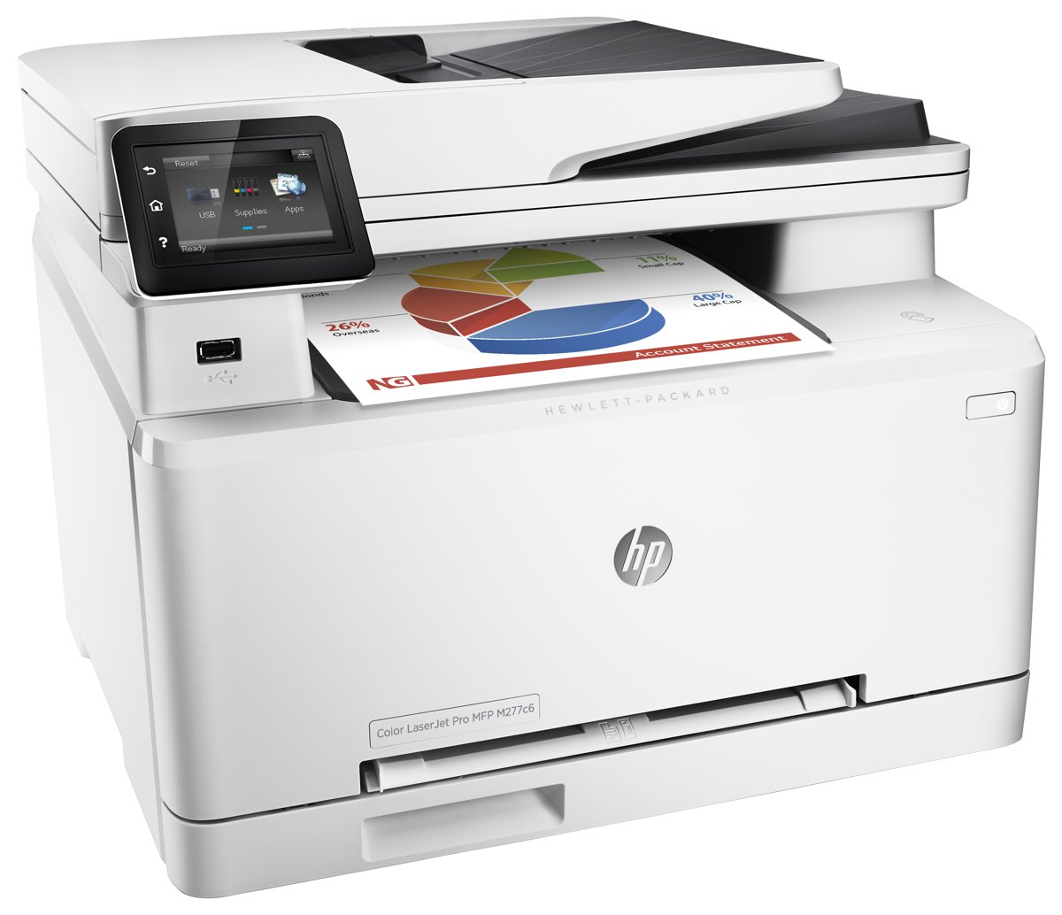 HP Color LaserJet Pro M277c6 (Compare To HP M277dw) Multifunction Printer -  19ppm Color/Black, 600x600dpi resolution, 150-Sheet Tray WiFi, NFC -  B3Q17A#BGJ ...