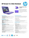 HP Stream Notebook - 13-c120nr (ENERGY STAR)