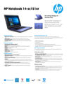 HP Notebook 14-ac151nr