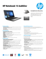 HP Notebook - 15-ba083nr (Touch) (ENERGY STAR)