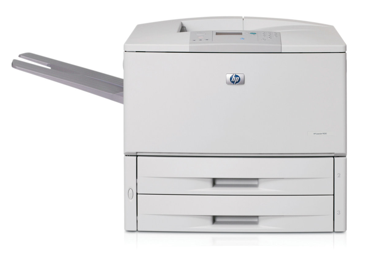 HP LaserJet 9050n - Printer - monochrome - laser - Tabloid Extra (305 x 457  mm) - 1200 dpi - up to 50 ppm - capacity: 1100 sheets - parallel, LAN  remarketed