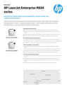 HP LaserJet Enterprise M604 Printer Series