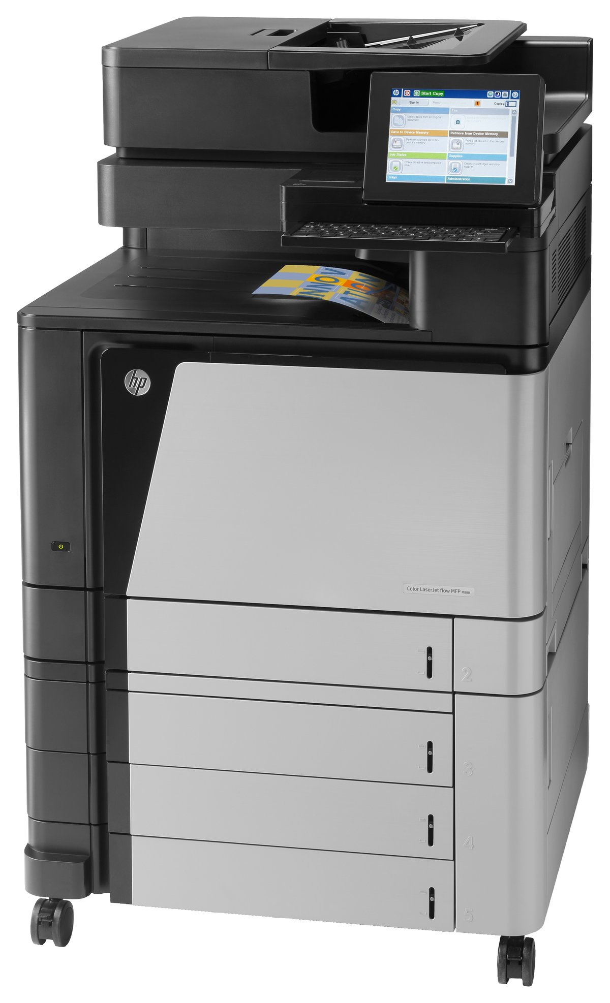 Color printers laser - Hp Laserjet M880z Color Laser All In One Printer Copier Scanner Fax By Office Depot Officemax