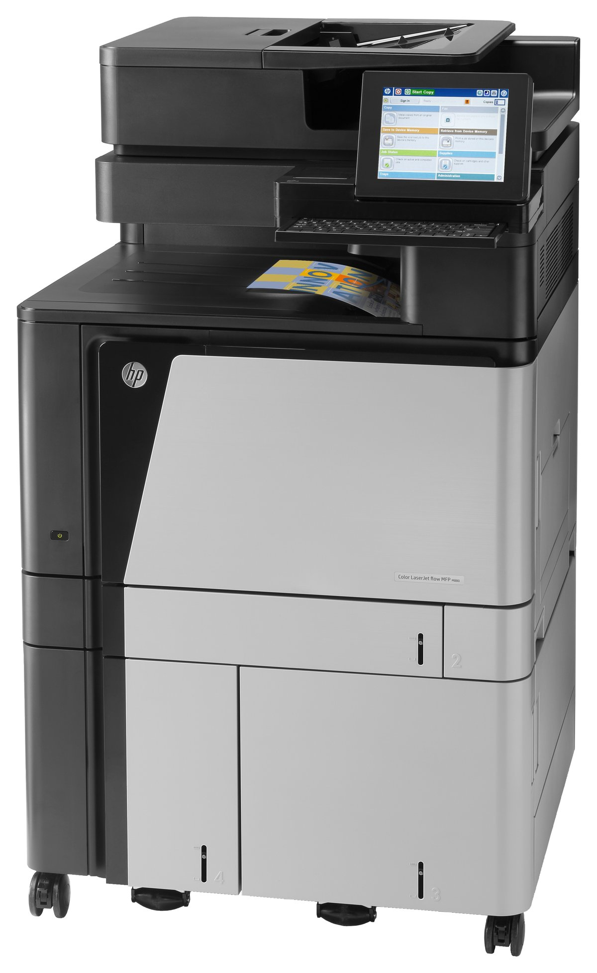 Hp hp color laser printers 11x17 - Hp Laserjet M880z Color Laser All In One Printer Copier Scanner Fax By Office Depot Officemax
