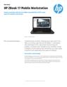 HP ZBook 17 Mobile Workstation
