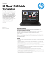 HP ZBook 17 G2 Mobile Workstation Datasheet (AMS English)