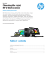 Choosing the right HP Z Workstation