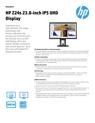 HP Z24s 23.8-inch IPS UHD Display Datasheet (English (AMS))