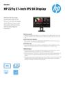 HP Z27q 27-inch IPS 5K Display Datasheet (English (AMS))