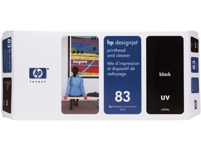 HP 83 Black DesignJet UV Printhead and Printhead Cleaner