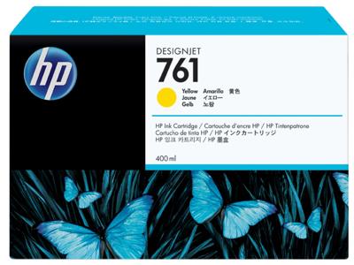 HP 761 400-ml Yellow DesignJet Ink Cartridge