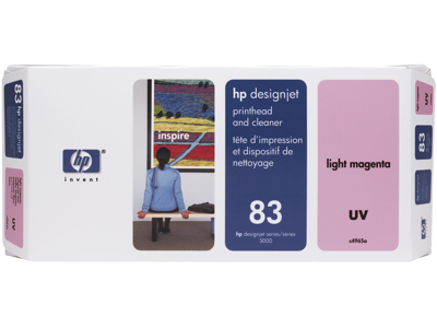 HP 83 Light Magenta DesignJet UV Printhead and Printhead Cleaner