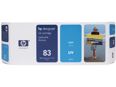 HP 83 680-ml Cyan DesignJet UV Ink Cartridge