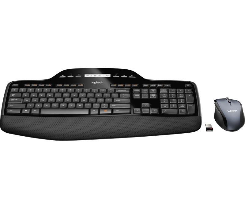 920-002443 - Logitech Wireless Desktop MK710 - Sats med tangentbord och mus  - trådlös - 2.4 GHz - No 68aa47911ae75