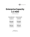 Seagate Enterprise Capacity 3.5 HDD v6 10TB 4KN-512E SATA Product Manual