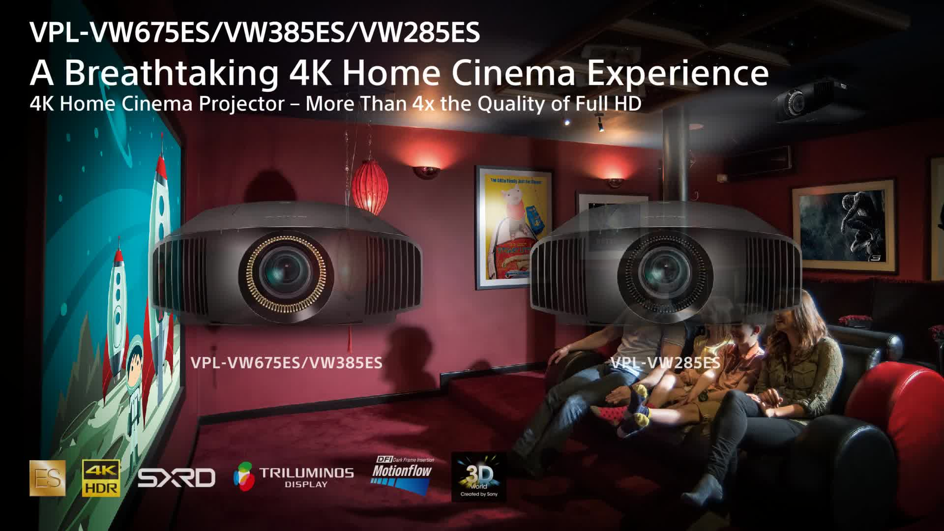 SONY 4K SXRD Home Cinema Projector (VPLVW285ES)