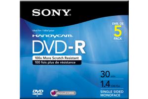 5 Pack 30M Camcorder DVD-R