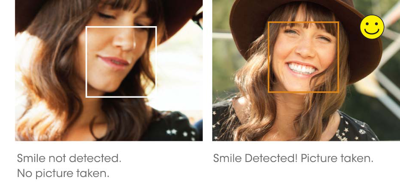 Smile Shutter<sup>™</sup> technology automatically captures smiles