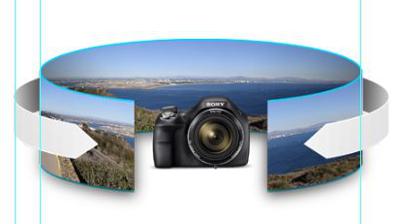 Sweep Panorama<sup>™</sup> mode (up to 360°)