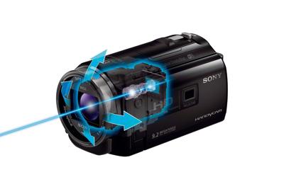 Balanced Optical SteadyShot<sup>™</sup> image stabilization