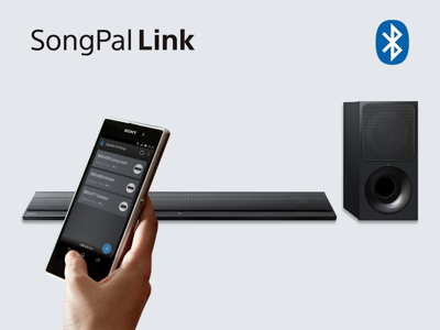 Stream and control from your smartphone with SongPal<sup>2,3,4</sup>