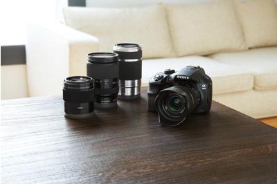 Accepts Sony<sup>®</sup> E-mount lenses