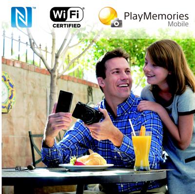 Smartphone remote control & sharing via NFC & Wi-Fi<sup>®</sup>
