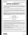 Warranty Card