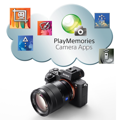 Personalize your camera with PlayMemories<sup>™</sup> Camera Apps<sup>9</sup>.