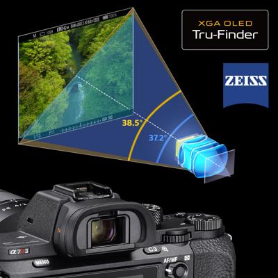 2.4-million dot XGA OLED Tru-Finder<sup>™</sup> w/ ZEISS T* coating