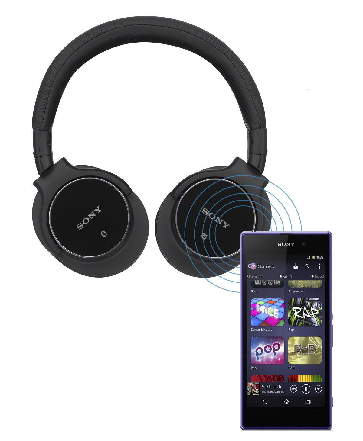 sony wireless bluetooth noise canceling headphones mdr zx750dc ebay. Black Bedroom Furniture Sets. Home Design Ideas