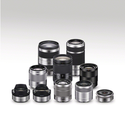 Accepts Sony<sup>®</sup> E-mount lenses