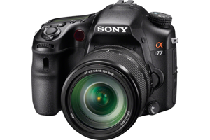 Sony a77 Camera and 18-135mm Lens