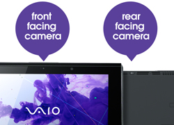 Full HD front and rear facing cameras