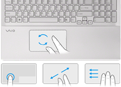 Simple multi-gesture touchpad