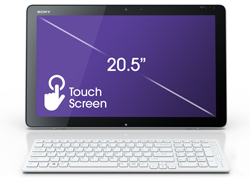"20"" touchscreen display"