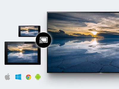 Send to a bigger, better screen with Google Cast<sup>™</sup>