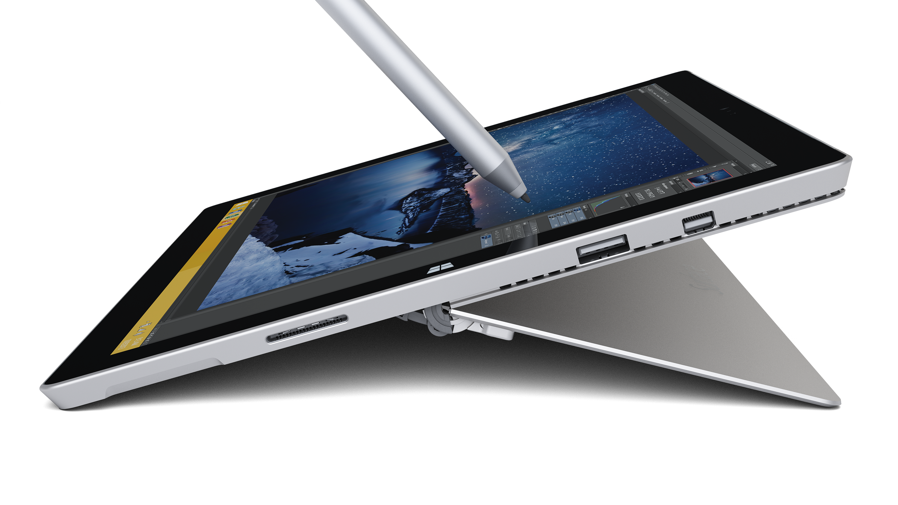 Microsoft Surface Pro 3 Core I5 4gb Ram 128gb Ssd 12 Inch Tablet 4 Windows 10 Silver Xcite Alghanim Electronics Best Online Shopping Experience In Kuwait