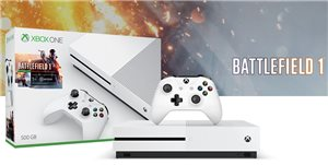 Microsoft Xbox One S - Battlefield 1 Bundle - game console - 4K - HDR - 500 GB HDD - white