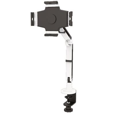"""Securely mount a 9-11"""" tablet to a desk, with extension, tilt, pan, swivel, pivot and height adjustments"""