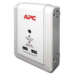 APC by Schneider Electric P4WUSB Surge Protector